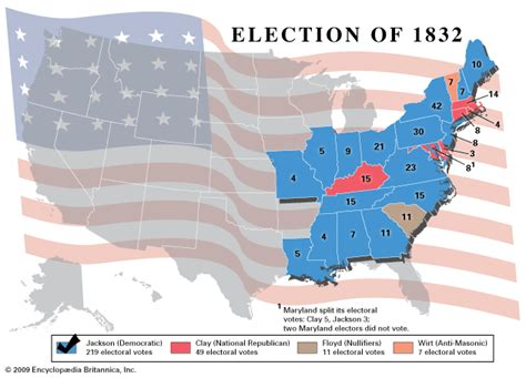 1832 election map american presidential election 1832 kids encyclopedia