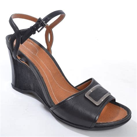 rockport womens wedge leather evening sandals shoes