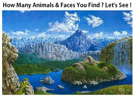 How Can You Search Find Animals Faces In Illusion Image Puzzle Brain Teasers Pics Story