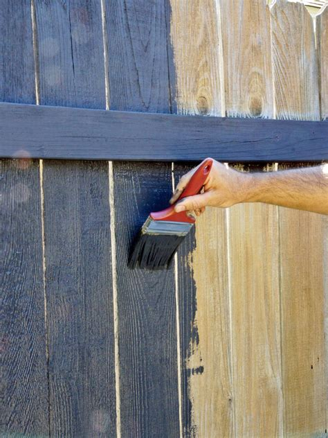 Painting Wood by Fence Painting And Staining Guide Tips Hgtv