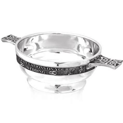 Wedding Quaich Gifts by Personalised Scottish Pewter Wedding Quaich Gift