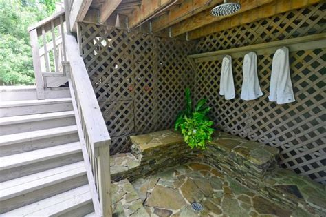 outdoor shower on deck outdoor shower a deck outdoor ideas