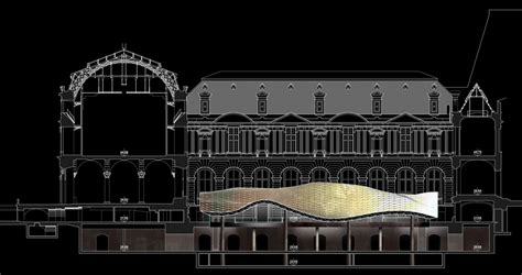 louvre museum sections architecture sections on pinterest drawing