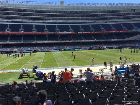 soldier field section 130 lower level sideline soldier field football seating