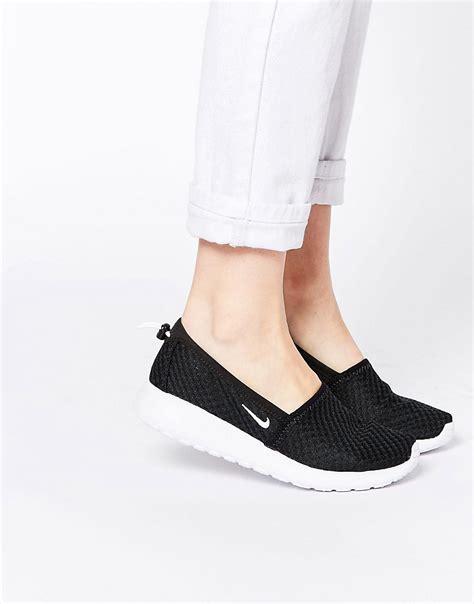 Nike Slip On Black Kode Ss6127 1 nike nike roshe run black white slip on trainers at asos