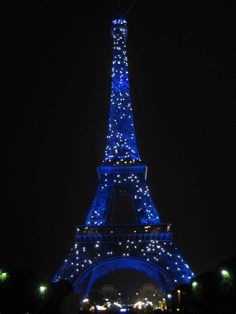 eiffel tower   night paris france