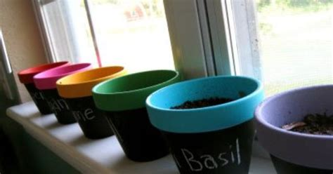 acrylic chalk paint diy diy chalkboard and acrylic painted clay pots for herb