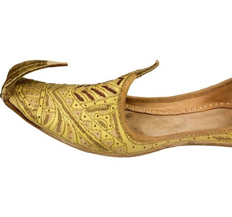 indian shoes indian beak shoes khussa in golden colour