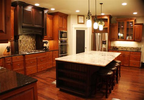 cherry cabinets cherry kitchen cabinets with granite countertops