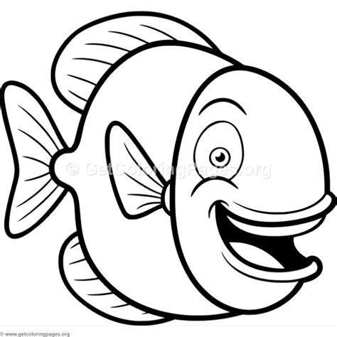 happy fish coloring page cute happy fish coloring pages getcoloringpages org