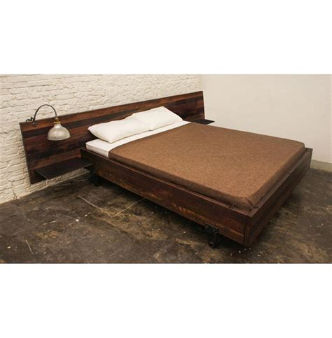 reclaimed wood king bed colby reclaimed wood industrial loft king bed with side tables