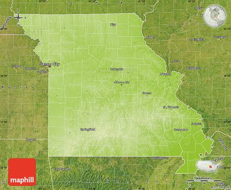 physical map of missouri physical map of missouri satellite outside