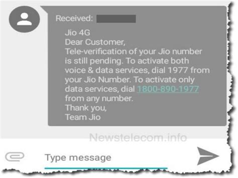 how to stop getting reliance jio 4g tele verification sms