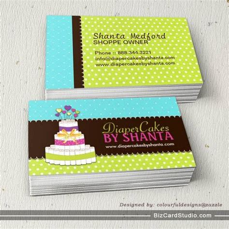 cake business cards templates cake business cards