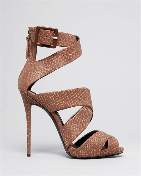 high heel sandals with ankle giuseppe zanotti platform ankle sandals coline