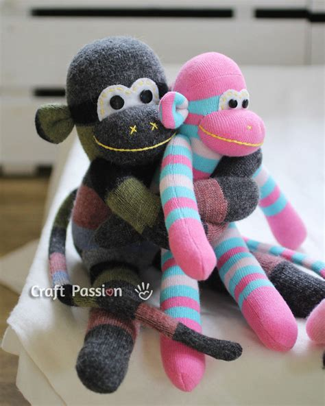 sock monkey diy learning sewing burdastyle