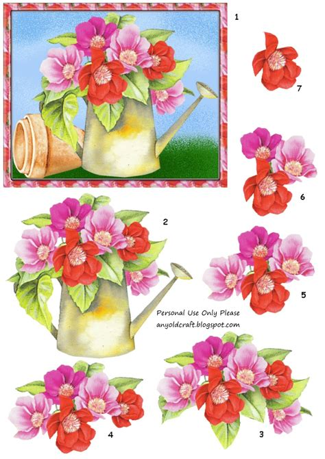 Free 3d Decoupage Sheets To Print - any craft 3d decoupage and matching papers freebie