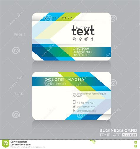trendy business cards templates trendy business card template with green and blue arrow