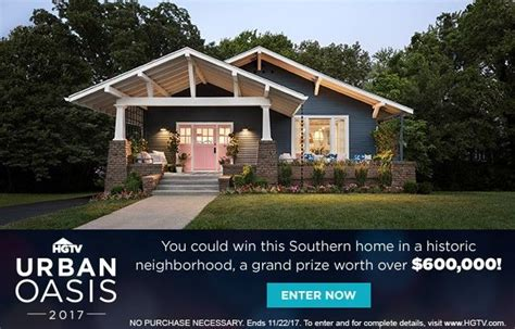 Hgtv 50000 Sweepstakes Code Word - hgtv urban oasis giveaway the one detail you may have missed