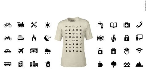 T Shirt The Languages I Speak symbols on t shirt help wearer overcome language barriers