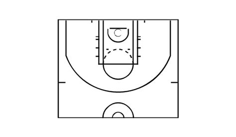 half court basketball template basketball courts vector stencils library