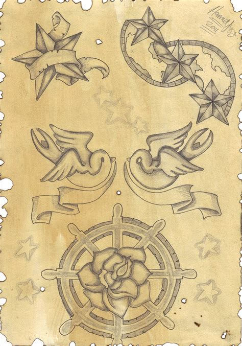 tattoo flash nautical nautical flash 2 by inkie girl on deviantart