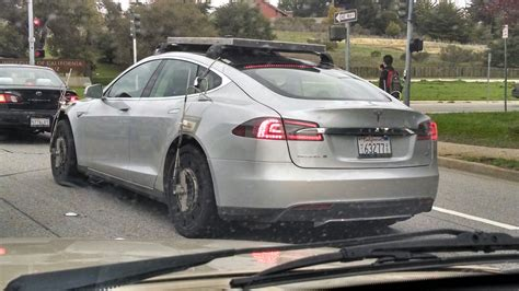Tesla S Models Is This A Tesla Model S Awd Prototype Testing
