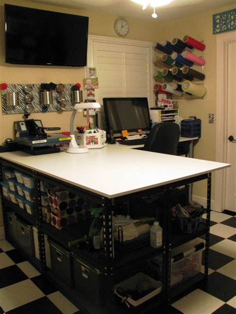 heat press table ideas craftaholics anonymous 174 craft room tour at studio