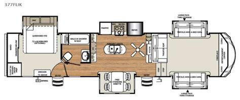 front living room 5th wheel floor plans forest river sandpiper 377flik fantastic front living