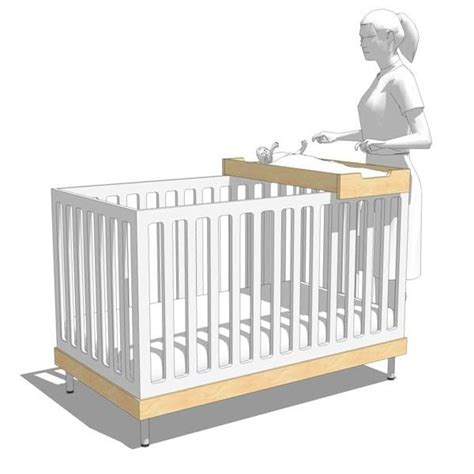 Crib Meaning by Oeuf Nursery Set 3d Model Formfonts 3d Models Textures
