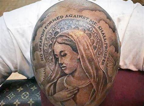 un rappeur s est tatou 233 la 171 vierge marie 187 sur le cr 226 ne
