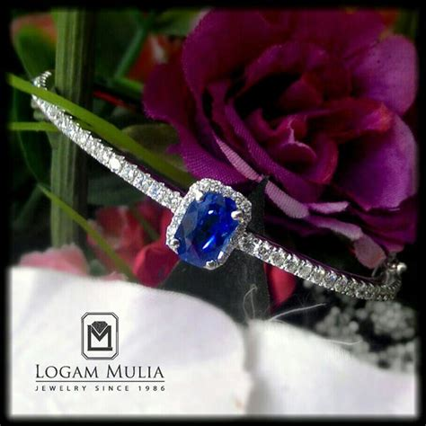 Blue Sapphire Rasa Srilangka Batu Cincin Liontin Kalung 005 jual gelang berlian wanita dg blue sapphire crbg sd mj 3163 eedd logammuliajewelry