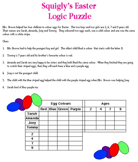 printable logic picture puzzles math logic puzzles printable new calendar template site