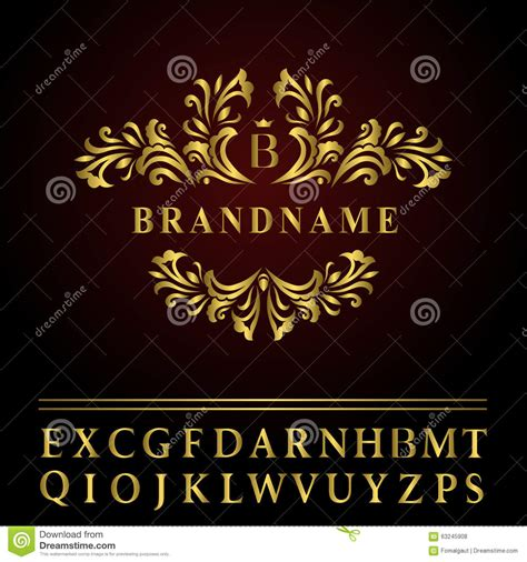 monogram design elements graceful template elegant