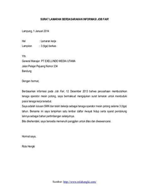 contoh surat lamaran kerja lulusan smk otomotif contoh surat lamaran kerja yang baik download lengkap