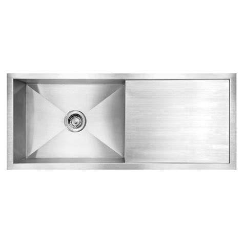 Kitchen Sinks With Drainboards by Whitehaus Collection Noah S Collection Brushed Undermount