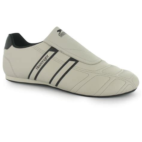 slip on sports shoes slazenger mens warrior trainers slip on leather sports
