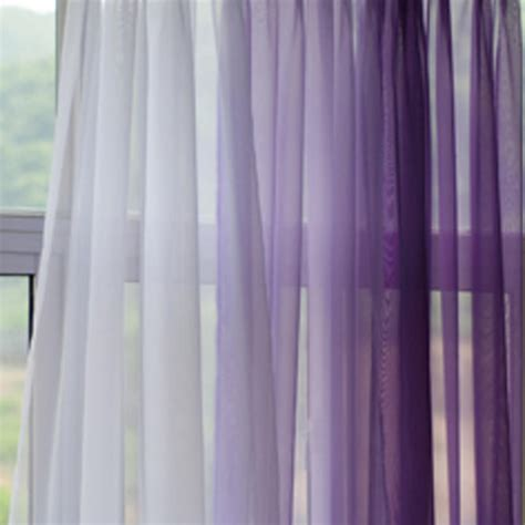 Voile silk sheer curtains