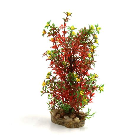 red plastic plant terrarium decorative habitat