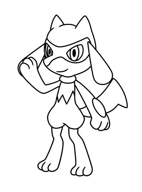 pokemon coloring pages riolu pokemon diamond pearl coloring pages