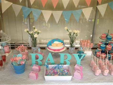 themes in an unknown girl baby shower unknown gender pink blue baby shower ideas