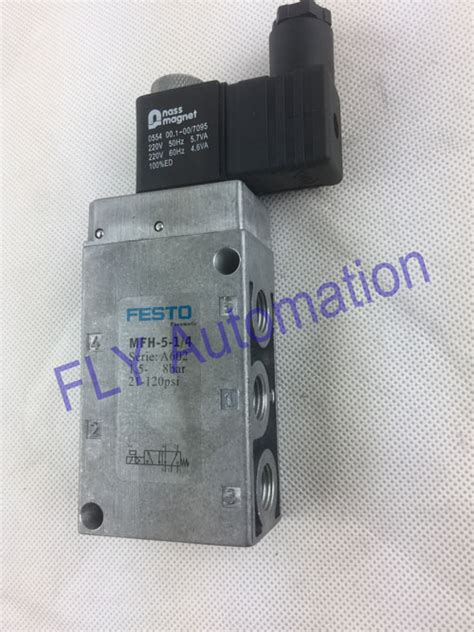 Festo Solenoid Valve Tiger Classic Mfh 5 1 4 festo electrical pneumatic solenoid valve 24vdc tiger classic 5 2 way mfh 5 1 8 mfh 5 1 4