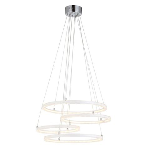 Circular Pendant Light 4 Light Teired Circular Led Cluster Ceiling Pendant White From Litecraft