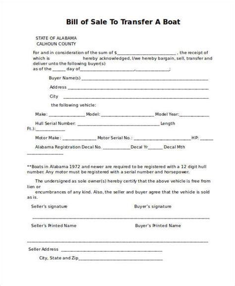 boat bill of sale mn bill of sale form in word