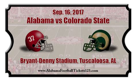 colorado state rams football tickets alabama crimson tide vs colorado state rams football
