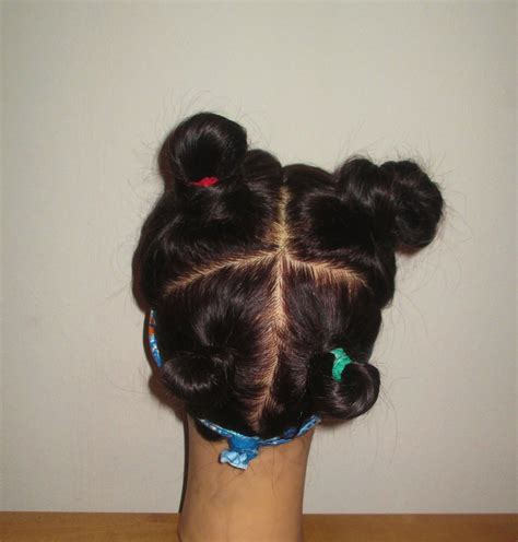 hair into small buns once dry remove buns and finger brush your hair exercise your hair part 1 rehairducation