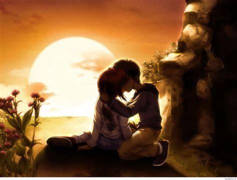wallpaper of couple kiss anime love couple wallpapers pics hd