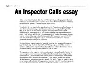 An Inspector Calls Essay Questions by The Inspector Calls Essay