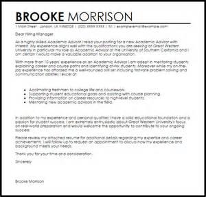 Cover letter sample cover letter for academic advisor position cover