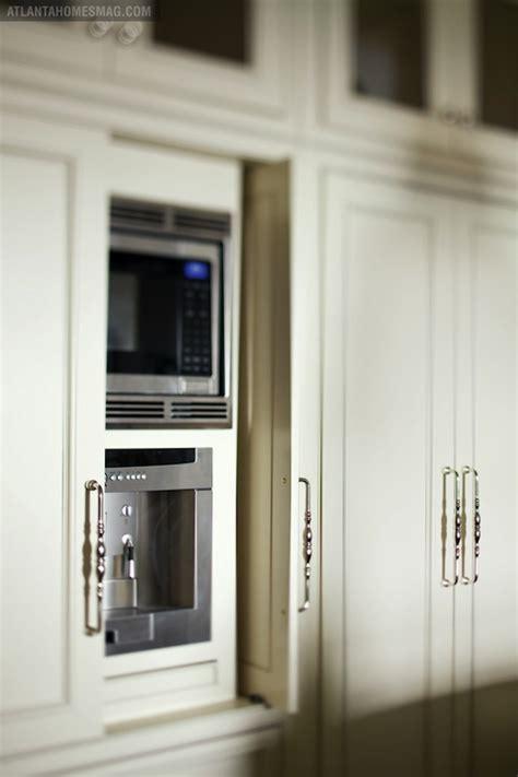 hidden microwave  hidden coffee machine transitional